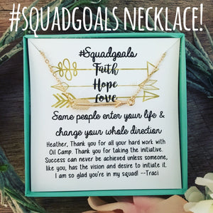 Squad Goals Arrow Necklace