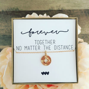 Best Friend Compass Necklace