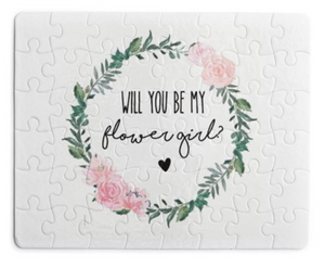 Will you be my Flower Girl puzzle!