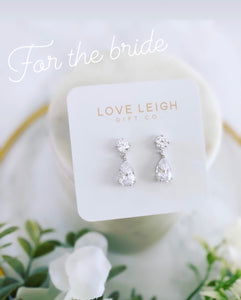 For the Bride- Crystal drop earrings!