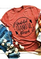 Grateful Thankful Blessed Short Sleeve