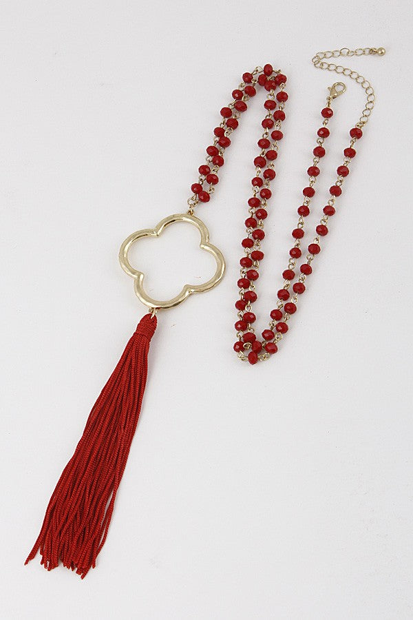 Red Long Necklace