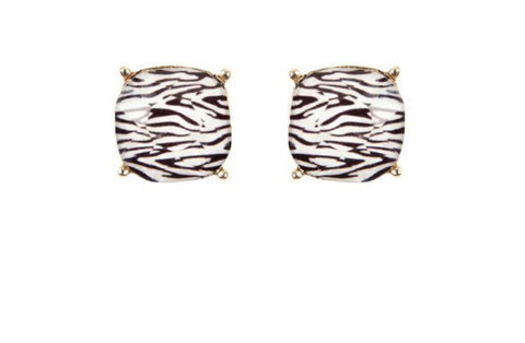 Zebra Stud Earrings