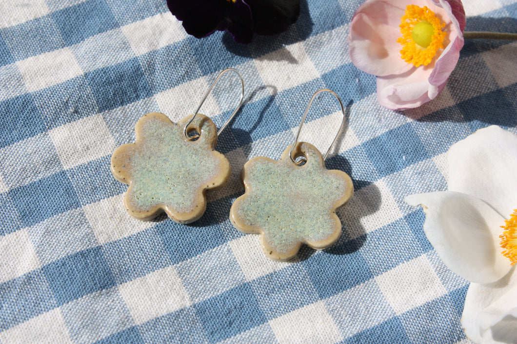 Flower Earrings - Sage