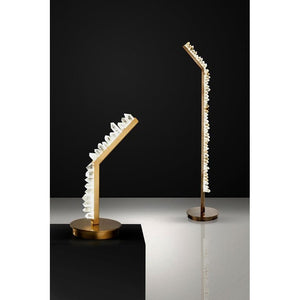 KA1782 WHITE QUARTZ TABLE LAMP