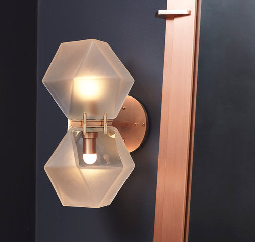 SJ2032 WELLES GLASS WALL SCONCE