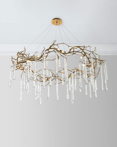 SJ2074 IRENE GLASS TEARDROP CHANDELIER