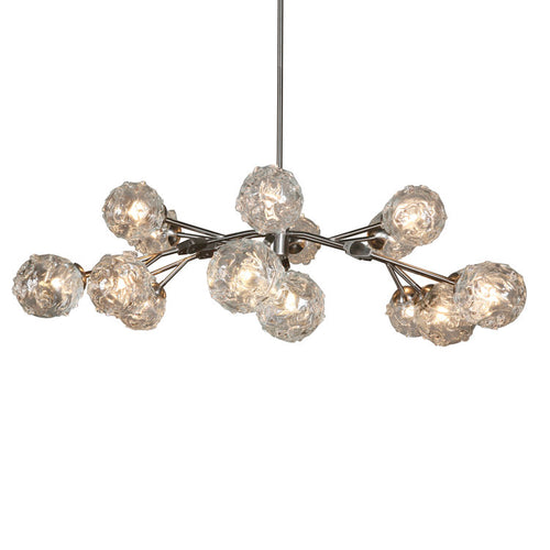 SJ2076 AURORA II GLASS GLOBE CHANDELIER