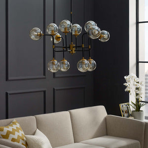 SJ5072 AMBITION AMBER GLASS CHANDELIER