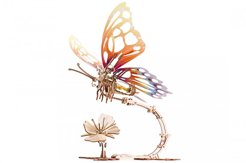 WOODEN MECHANICAL MODEL BUTTERFLY