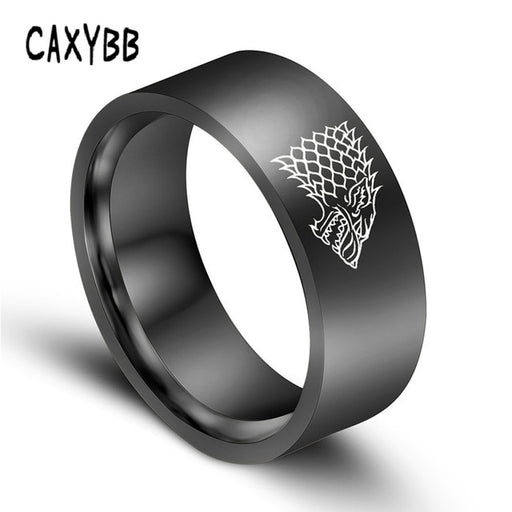 Ring Game of Thrones ice Wolf