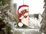Christmas decor Peeking Santa suncatcher