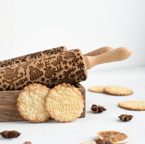 New Merry Christmas Rolling Pin