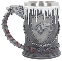 Load image into Gallery viewer, Game of Thrones House Stark Tankard