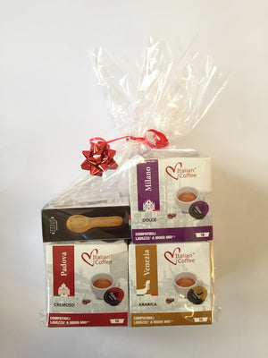 Gift Set - your choice of 3 Great Italian Cities and a pack of delicious Italian biscuits