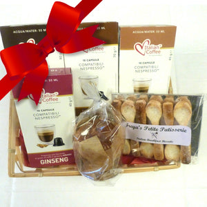 Nespresso Gift Set - Flavoured coffees and a chocolate/orange Panettone