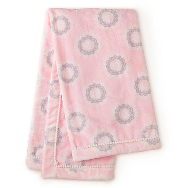 Willow Plush Blanket - Pink