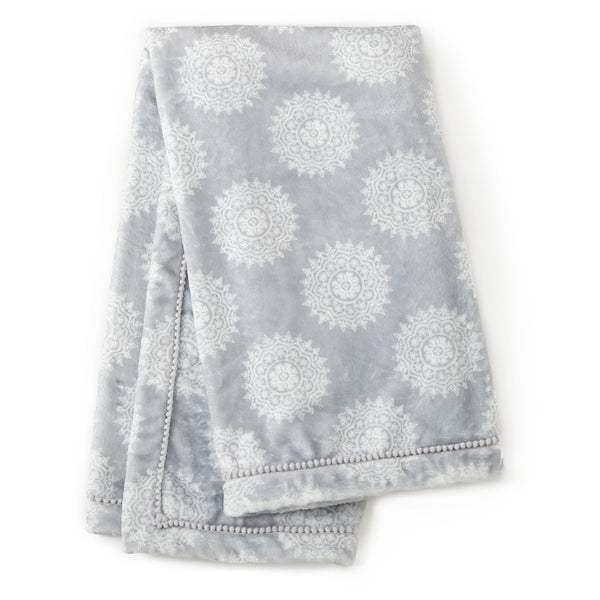 Willow Plush Blanket - Grey