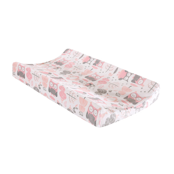 Night Owl Changing Pad Cover - Pink