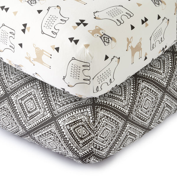 Bailey Fitted Crib Sheet -Set of 2