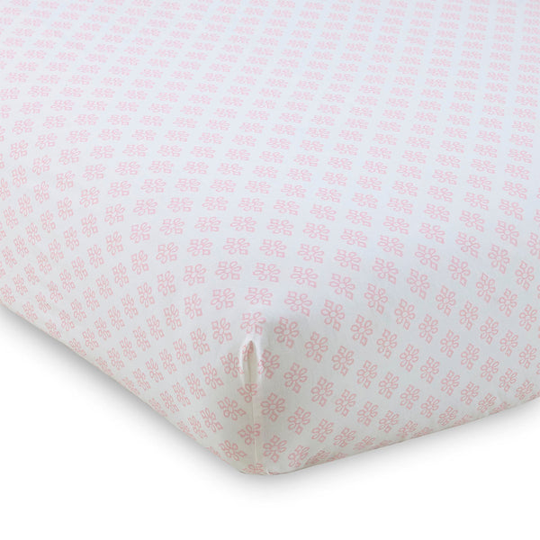 Baby Ely Crib Fitted Sheet - Pink