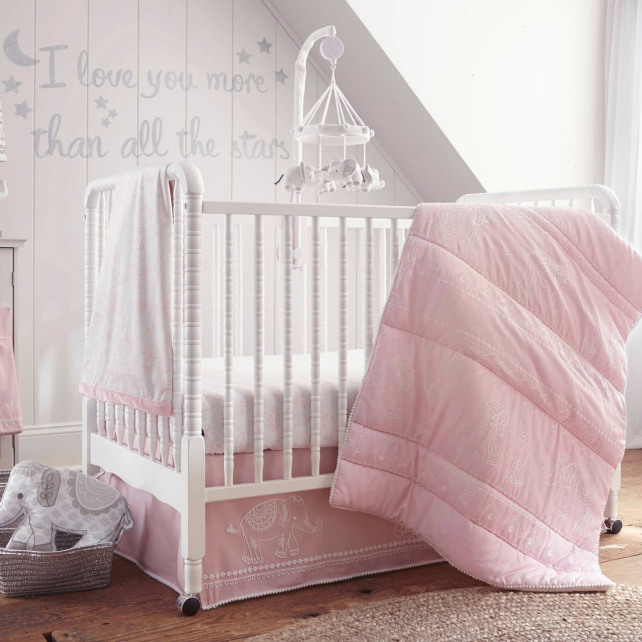 Baby Ely 5PC Bedding Set - Pink