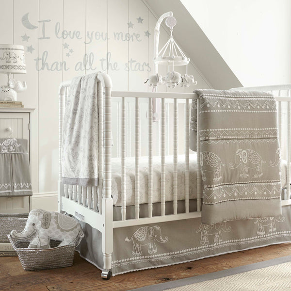 Baby Ely 5PC Bedding Set - Grey