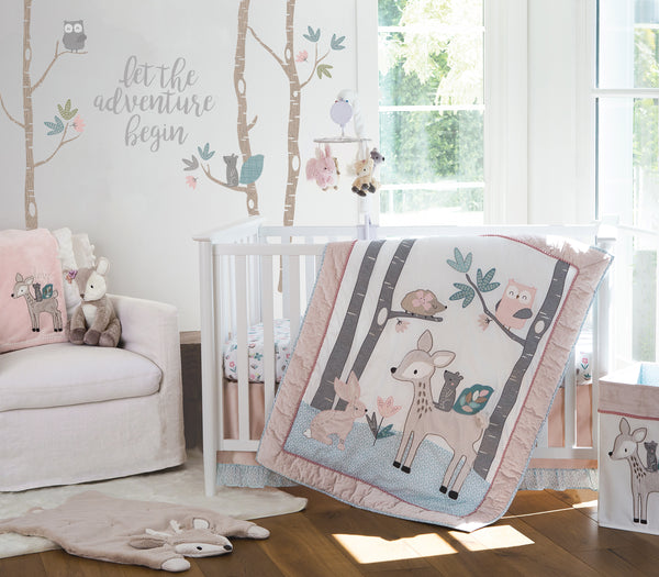 Levtex Baby Everly 5pc Bedding Set Q Ds Dr Fs Decal