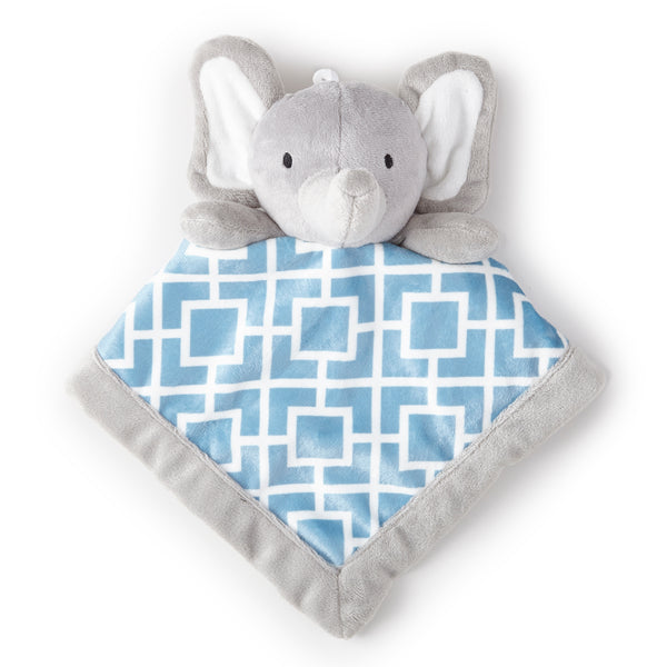 Elephant Plush Security Blanket - Grey