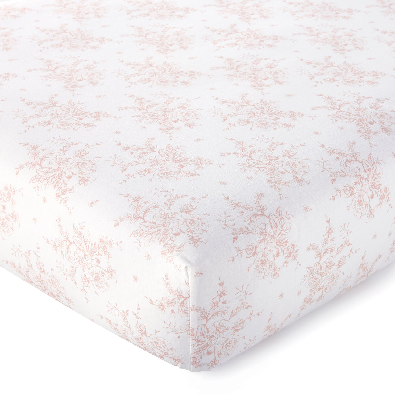 Heritage Blush Floral Organic Fitted Sheet