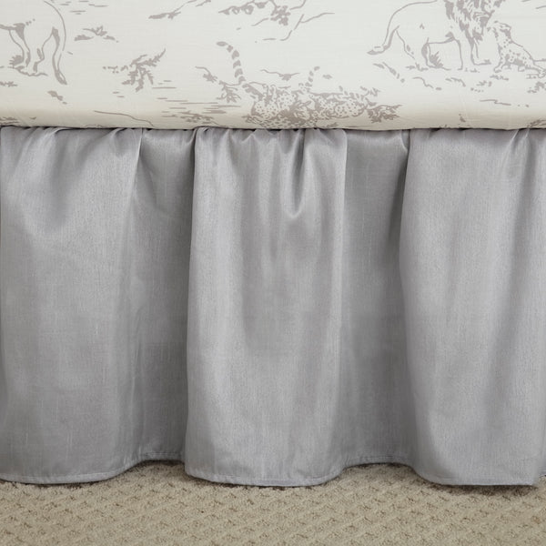 Heritage Grey Crib Dust Ruffle