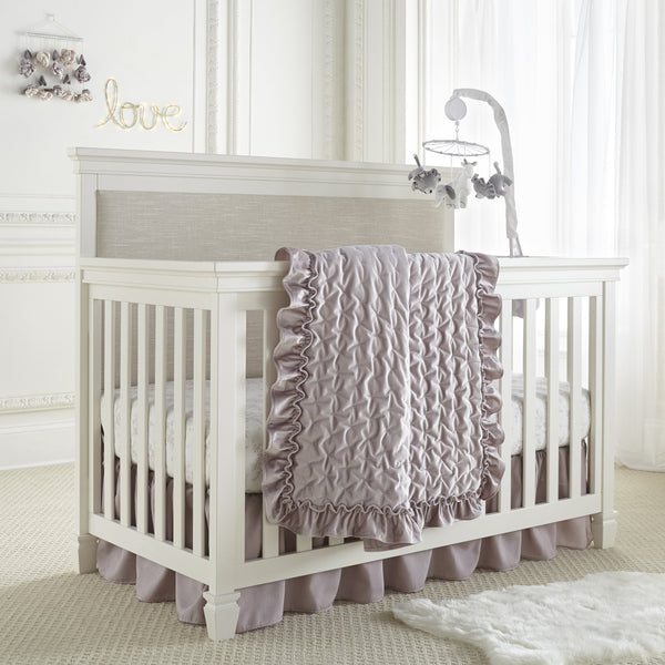 Heritage Lilac Velvet Baby Quilt