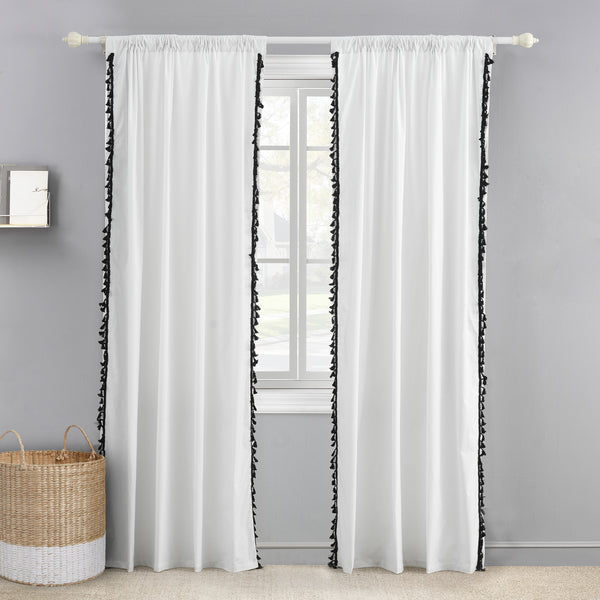 Black Tassel Drape Panels