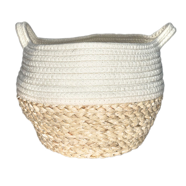 Cream Natural Mini Drum Basket