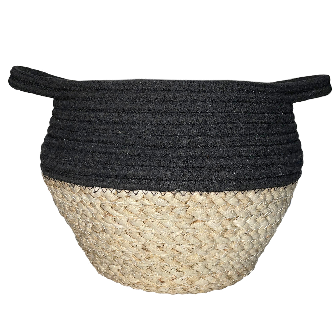 Black Natural Mini Drum Basket