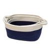 Navy White Rope Storage 2pk