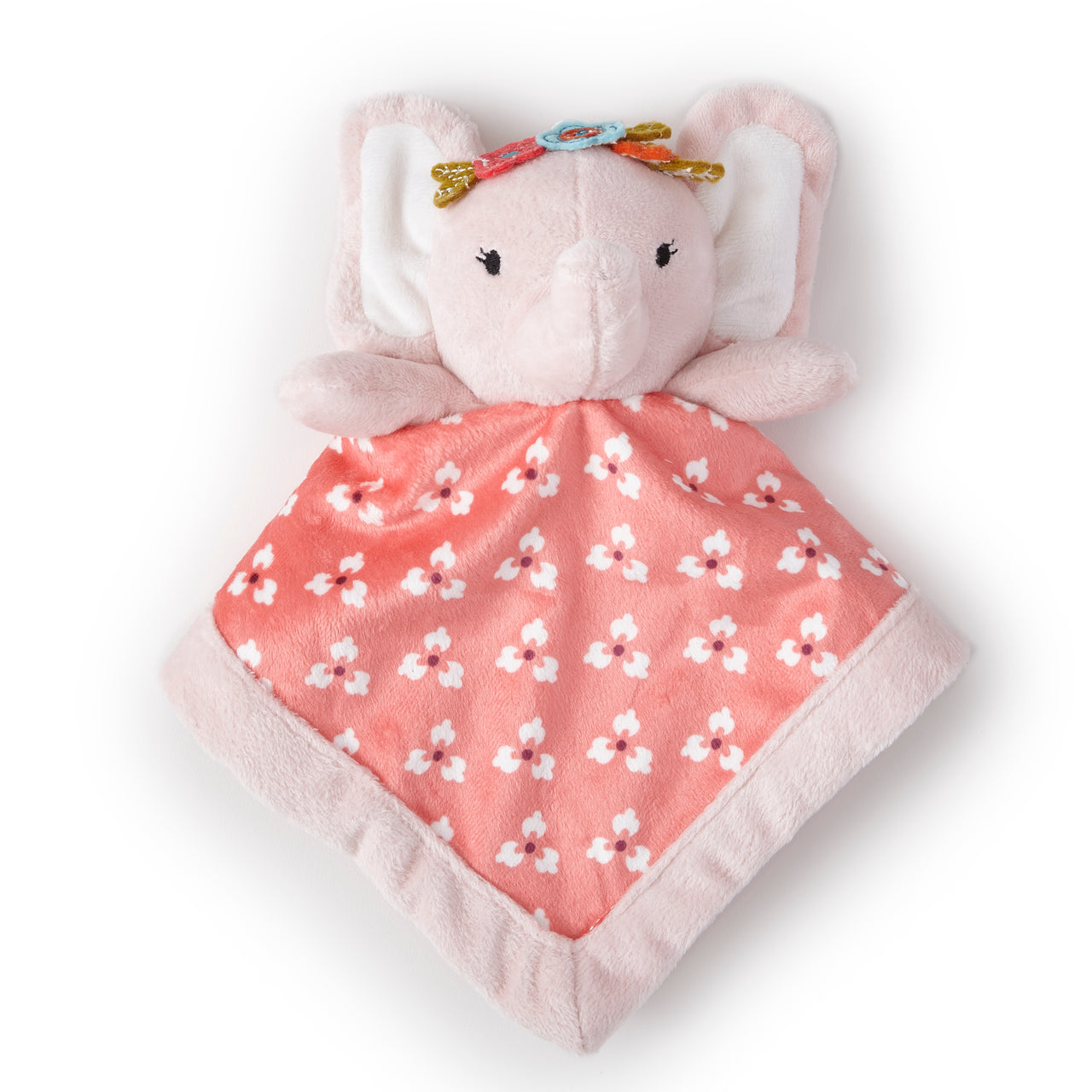 Elephant Plush Security Blanket - Pink