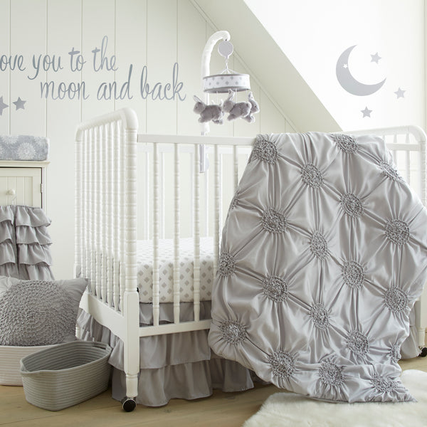 Willow 5PC Bedding Set - Grey
