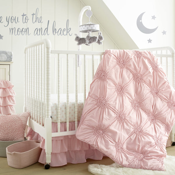 Willow 5PC Bedding Set - Pink