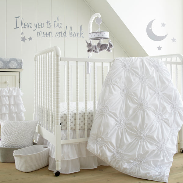 Willow 5PC Bedding Set - White