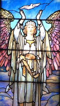Load image into Gallery viewer, Stained Glass Greeting Card - Angel & Dove