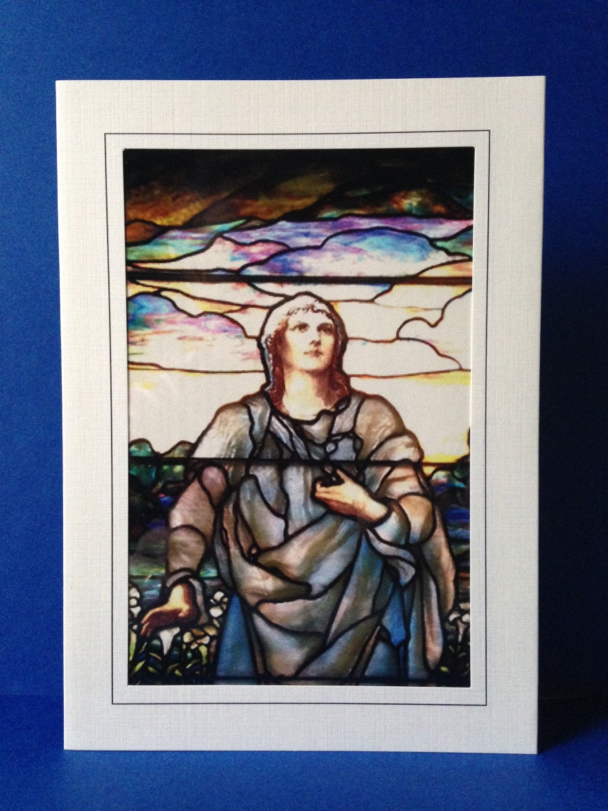 Stained Glass Greeting Card - He Has Risen 1