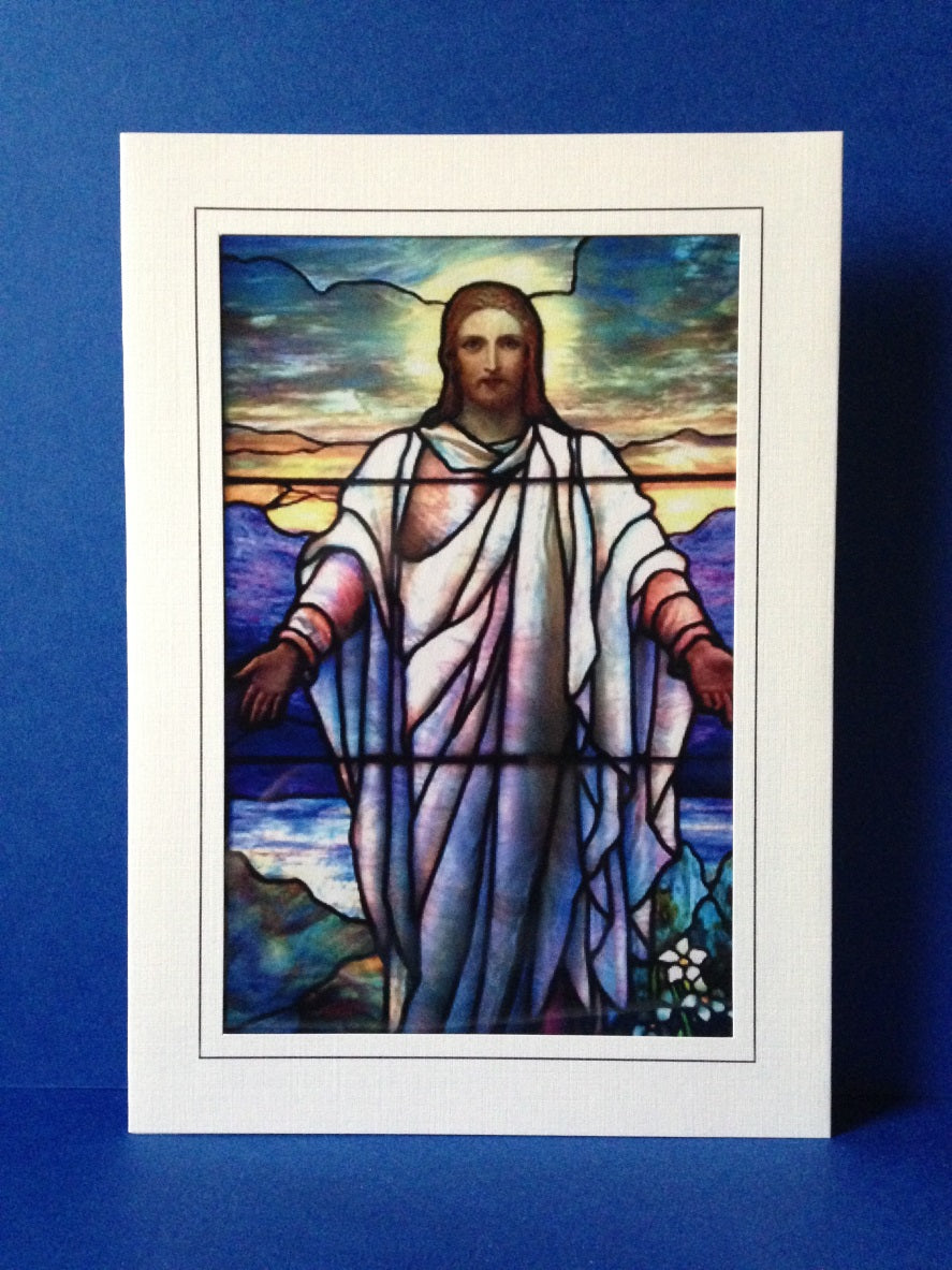 Stained Glass Greeting Card - Christ