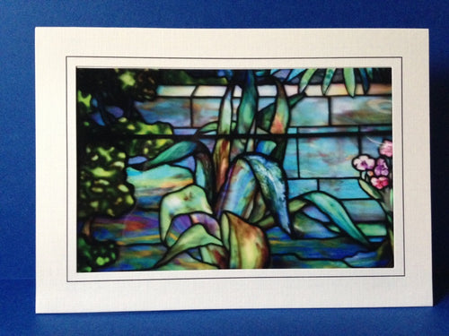 Stained Glass Greeting Card - Flower