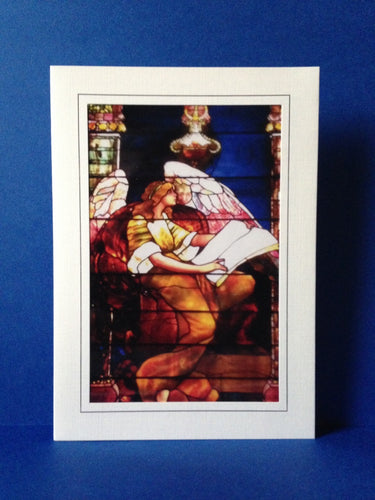 Stained Glass Greeting Card - Old Stone Church Cleveland, Ohio