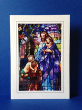Load image into Gallery viewer, Stained Glass Greeting Card - Christ With Children