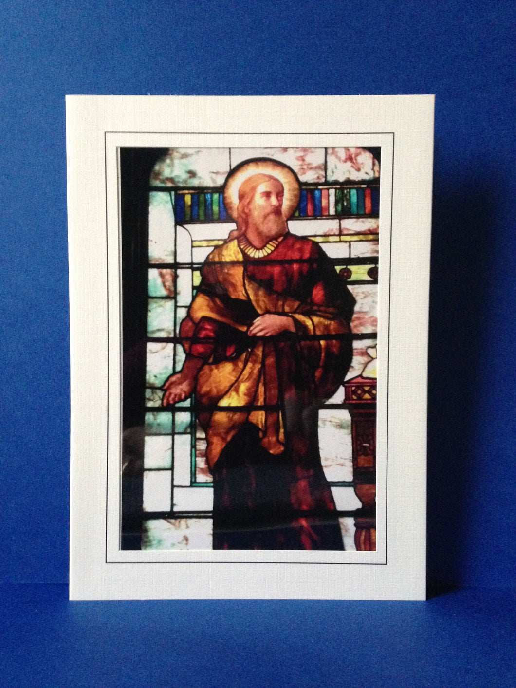Stained Glass Window Greeting Card - The Calling of Matthew