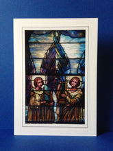 Load image into Gallery viewer, Stained Glass Greeting Card #2 - First Presbyterian Church in Lockport, NY