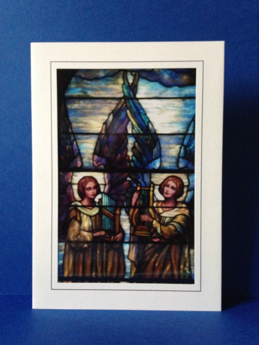 Stained Glass Greeting Card #2 - First Presbyterian Church in Lockport, NY