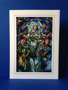 Stained Glass Greeting Card - Corning Museum of Glass, New York